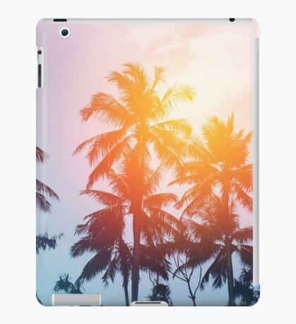 Beach sunset at the coast line iPad Case/Skin