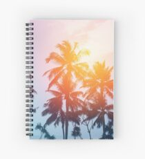 Beach sunset at the coast line Spiral Notebook