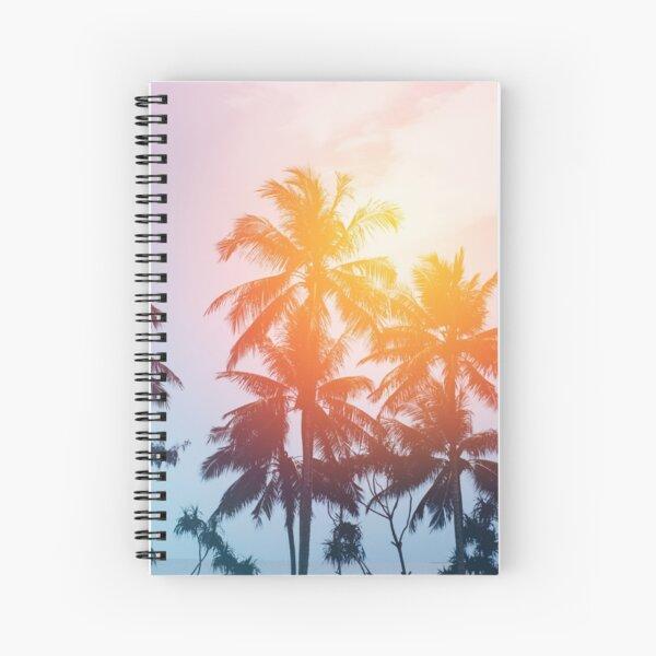 Beach sunset at the coast line Spiral Notebook