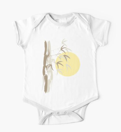 Oriental Zen Bamboo And Yellow Sunrise Kids Clothes