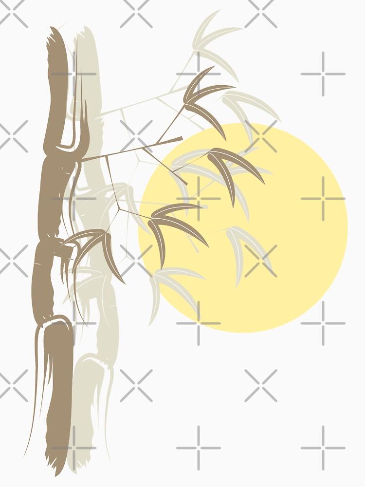 Oriental Zen Bamboo And Yellow Sunrise | Women's T-Shirt