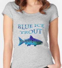 Blue Ice Trout Women's Fitted Scoop T-Shirt