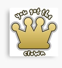 Glitch Overlay crown game indicator you Canvas Print
