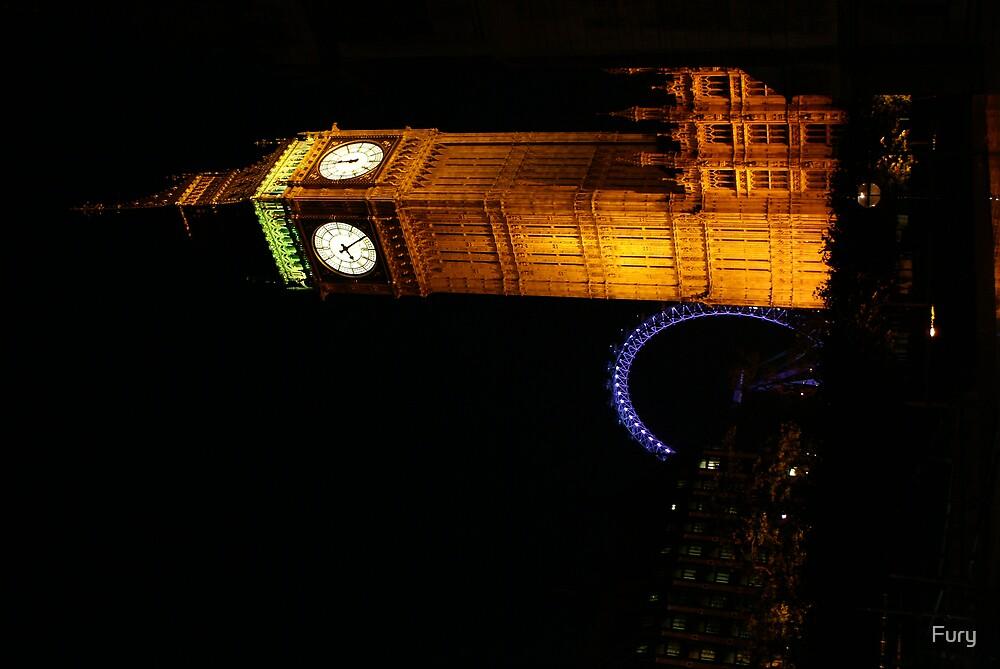 Big Ben at Night by Fury