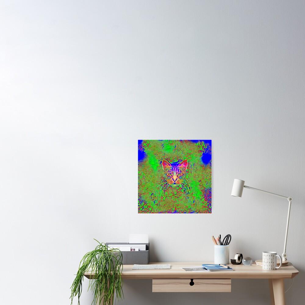 Polar aurora cat Poster