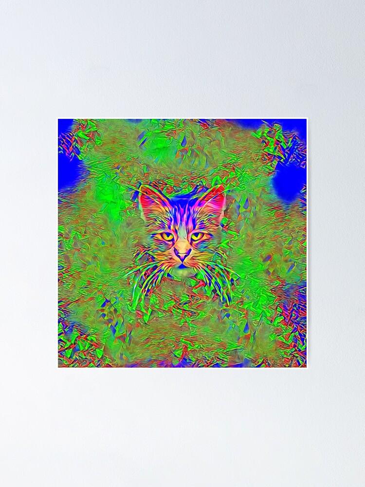 Alternate view of Polar aurora cat Poster