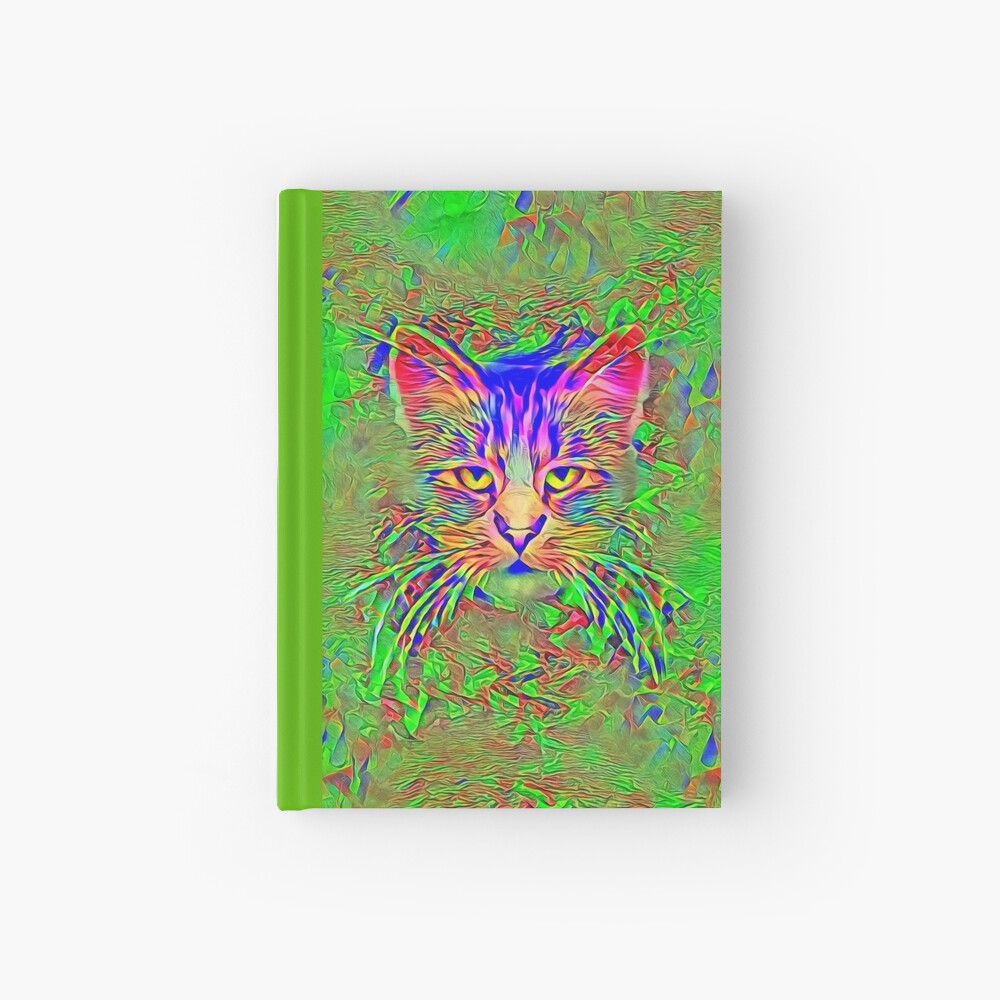 Polar aurora cat Hardcover Journal