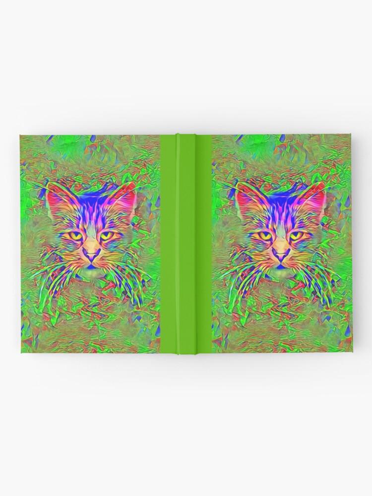Alternate view of Polar aurora cat Hardcover Journal