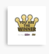 Glitch Overlay crown game winner you Canvas Print