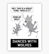 DANCES WITH WOLVES Sticker