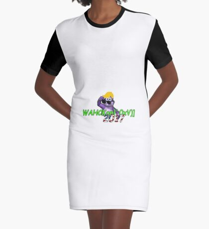 "WAHCKon['V""} Graphic T-Shirt Dress"