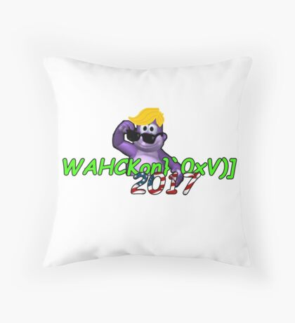 "WAHCKon['V""} Throw Pillow"