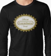 The Procrastination Long Sleeve T-Shirt