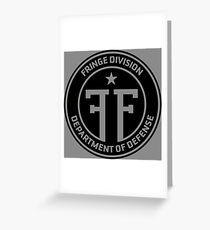 Fringe Division department of defense Greeting Card