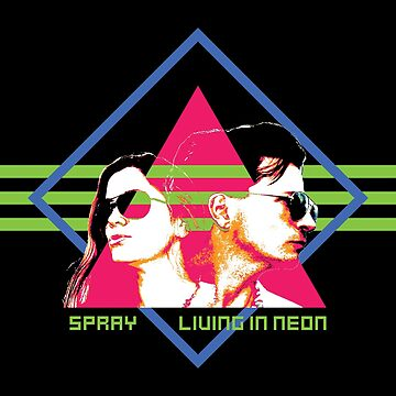 Spray - Living In Neon - Album Art Re-Imagined by garethcarter91