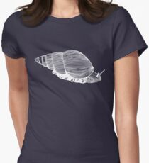 African Land Snail white on candy! Women's Fitted T-Shirt