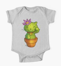 Cat-ti can flower One Piece - Short Sleeve