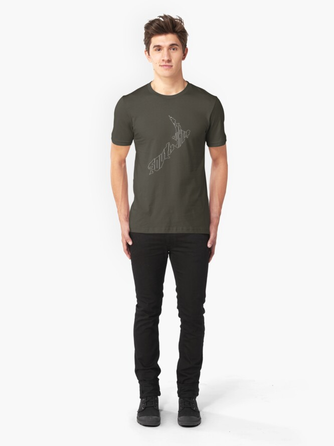 Alternate view of North and South (white) Slim Fit T-Shirt