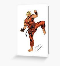 Street Fighter Ken Greeting Card