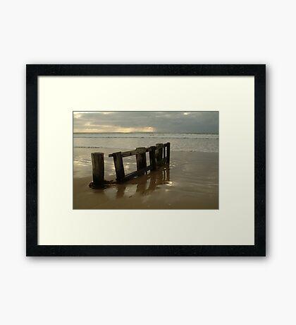 Pearl Morning Sunrise, Raffs Beach Framed Print