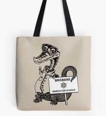 March for Science Brisbane - Crocodile, black Tote Bag