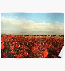 Red Impressionism Poster