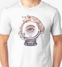 All Seeing Eye Tattoo - Fortune Teller with Magic Ornament Hands T-Shirt