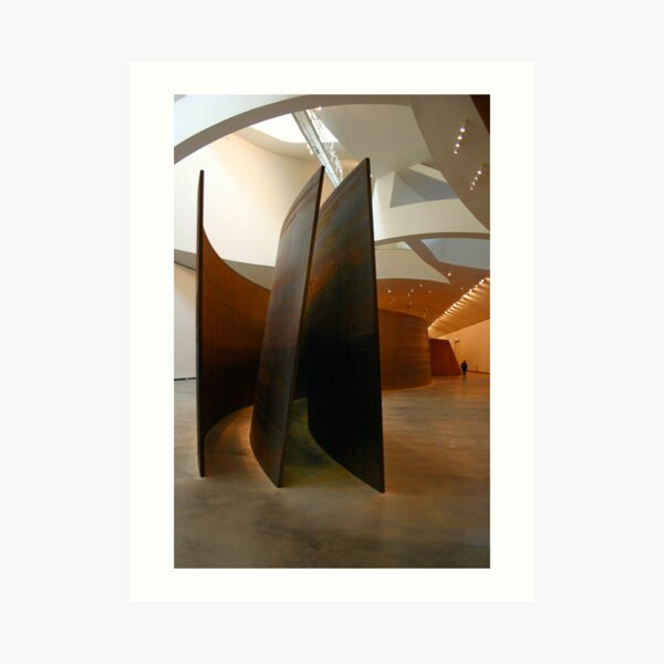 Richard Serra at the Guggenheim Art Print
