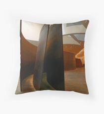 Richard Serra at the Guggenheim Throw Pillow