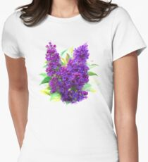 Watercolor Lilac Womens Fitted T-Shirt