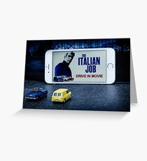 Drive in movie Greeting Card