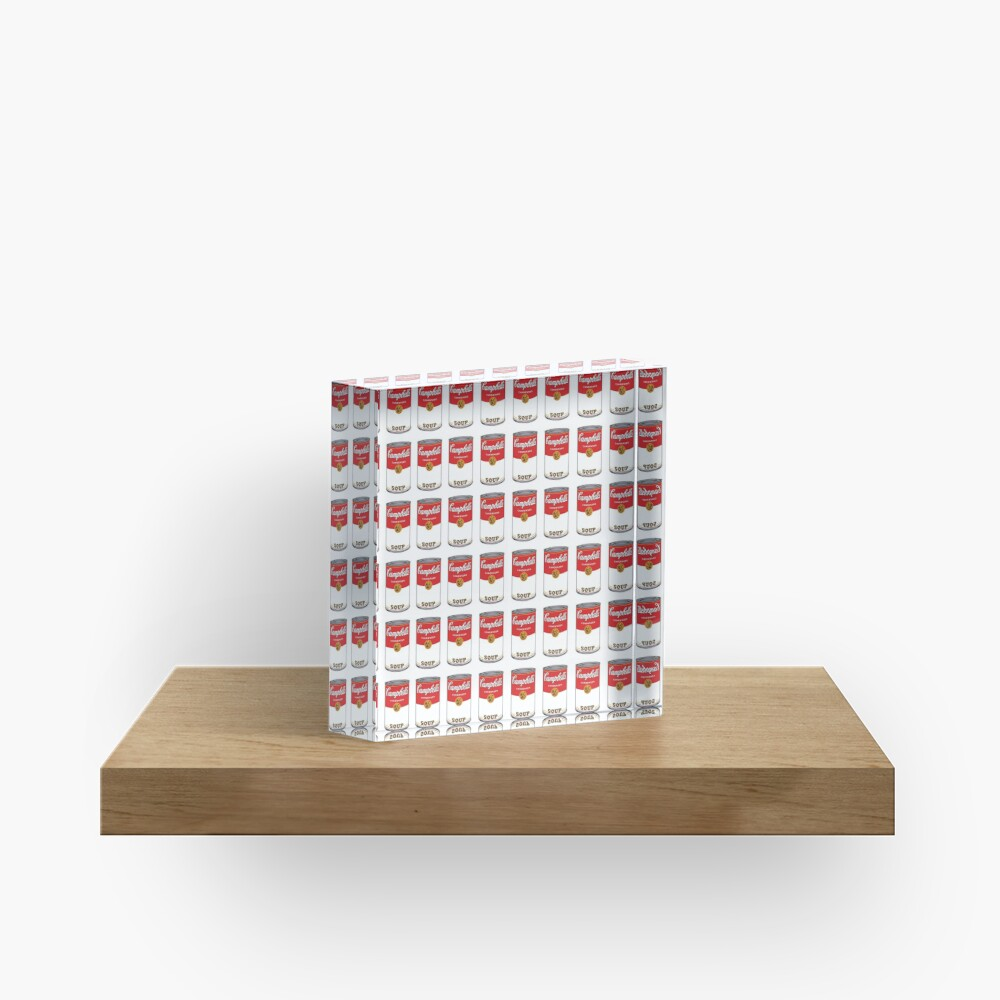 Campbell Soup Acrylic Block