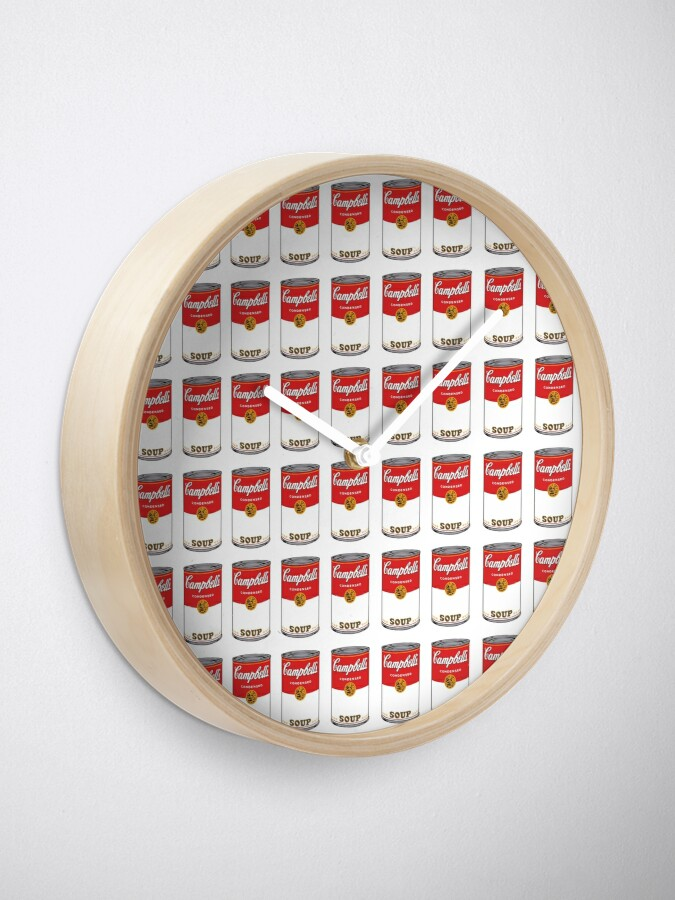 Alternate view of Campbell Soup Clock