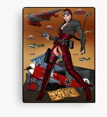 UFO Witch Red Baroness Canvas Print