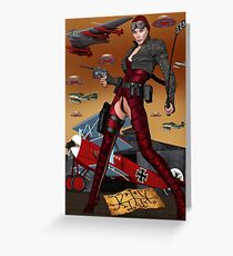 UFO Witch Red Baroness Greeting Card