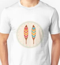 American Native Vector Illustration Feathers T-Shirt