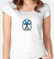 501st Clone Trooper 8bit Women's Fitted Scoop T-Shirt