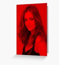 Eliza Dushku - Celebrity (Modeling Pose) Greeting Card