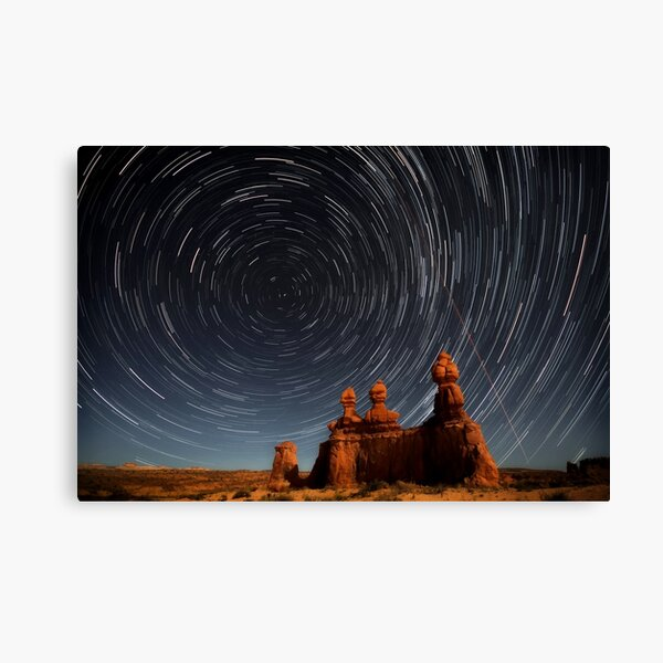 Star trails in Goblin valley Canvas Print