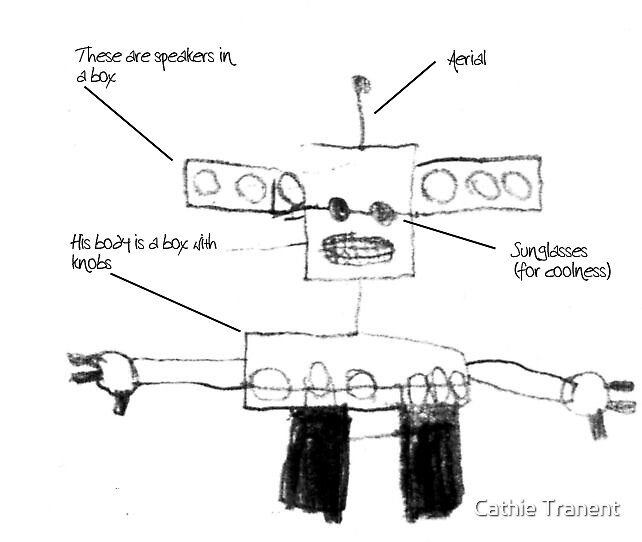 Robot Soundguy (by Connor, aged 7) by Cathie Tranent