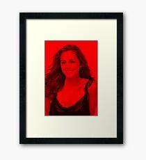 Eliza Dushku - Celebrity (Smiley Pose) Framed Print