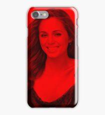 Eliza Dushku - Celebrity (Smiley Pose) iPhone Case/Skin