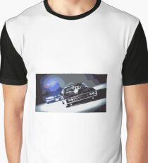 Muscle Car Cop Chase Graphic T-Shirt