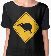 Caution: Kiwi Crossing Chiffon Top