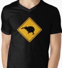 Caution: Kiwi Crossing Men's V-Neck T-Shirt