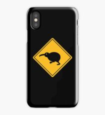 Caution: Kiwi Crossing iPhone Case/Skin