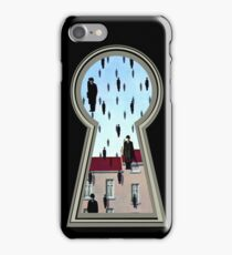 """""""Magritte from the lock"""" iPhone Case/Skin"""