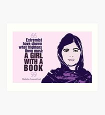 Girl With a Book Art Print