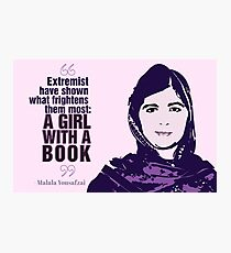 Girl With a Book Photographic Print