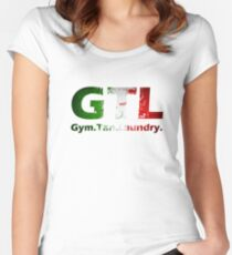 GTL Gym Tan Laundry Women's Fitted Scoop T-Shirt
